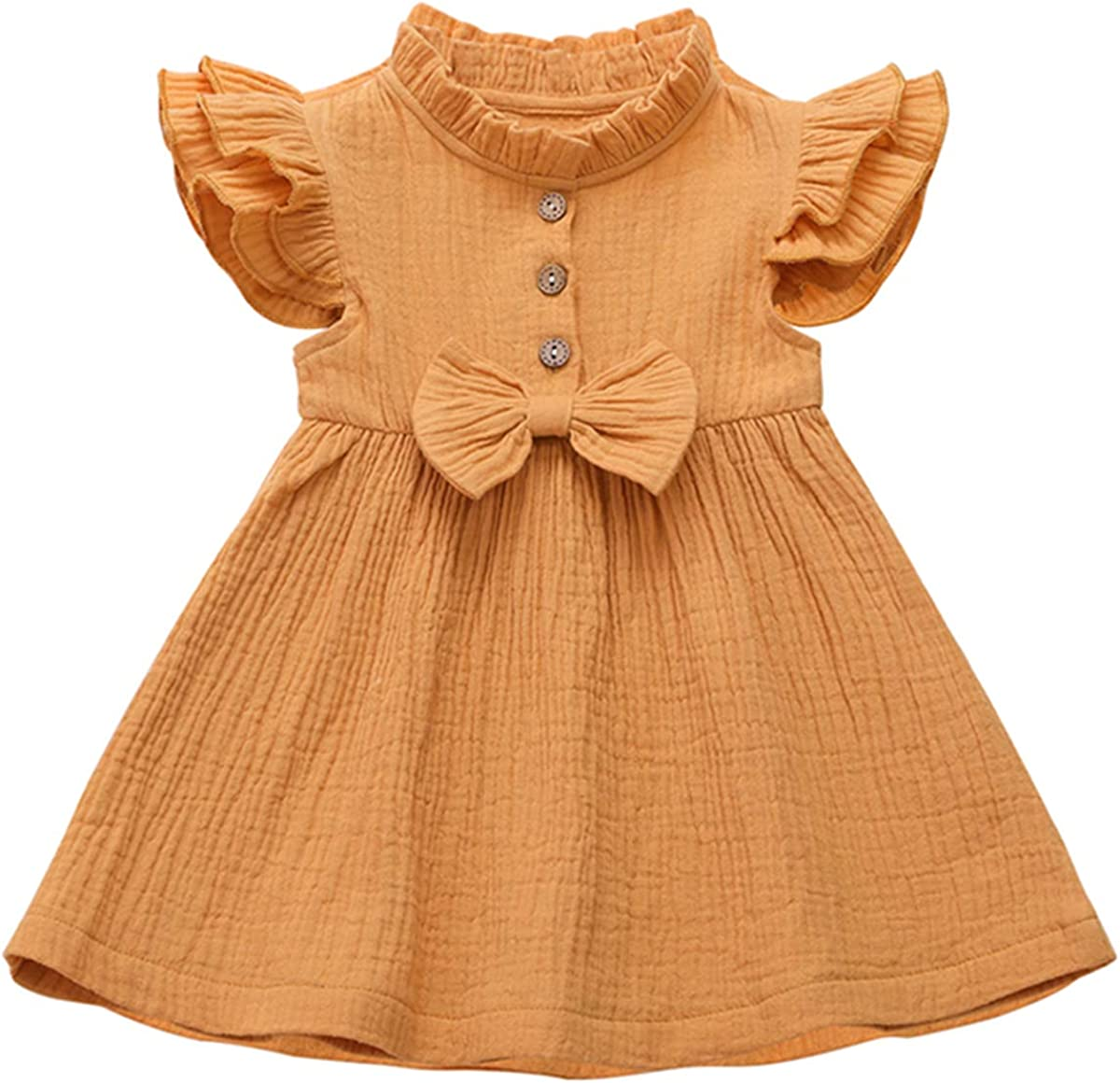 RJXDLT Toddler Girls Lace Dress Baby Girl Elegant Dress Girl Flutter Sleeve Lace Dress Flower Girls Lace Dress
