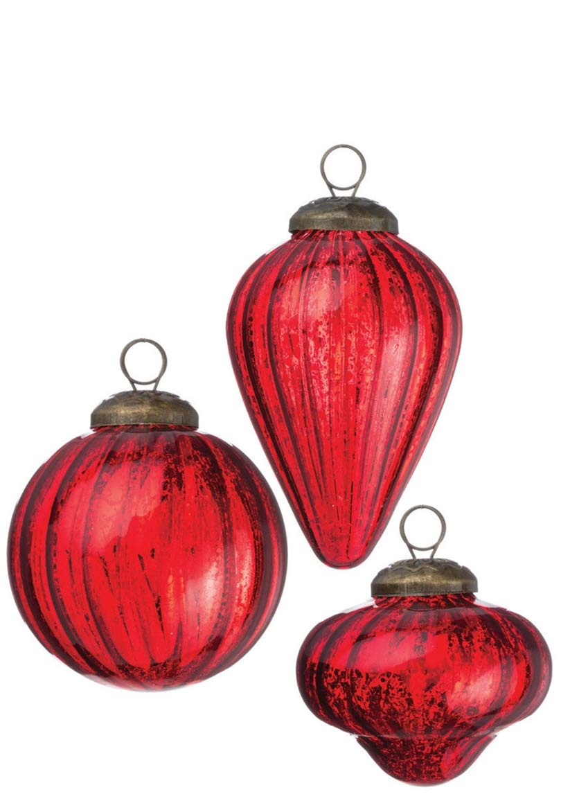 Drop and Onion Shapes Christmas Ornaments Sullivans Antique Mini Ball Set of 12 in 3 Styles 2.5 to 3.5 Each Red Set of 12 in 3 Styles 2.5 to 3.5 Each Red OR5431