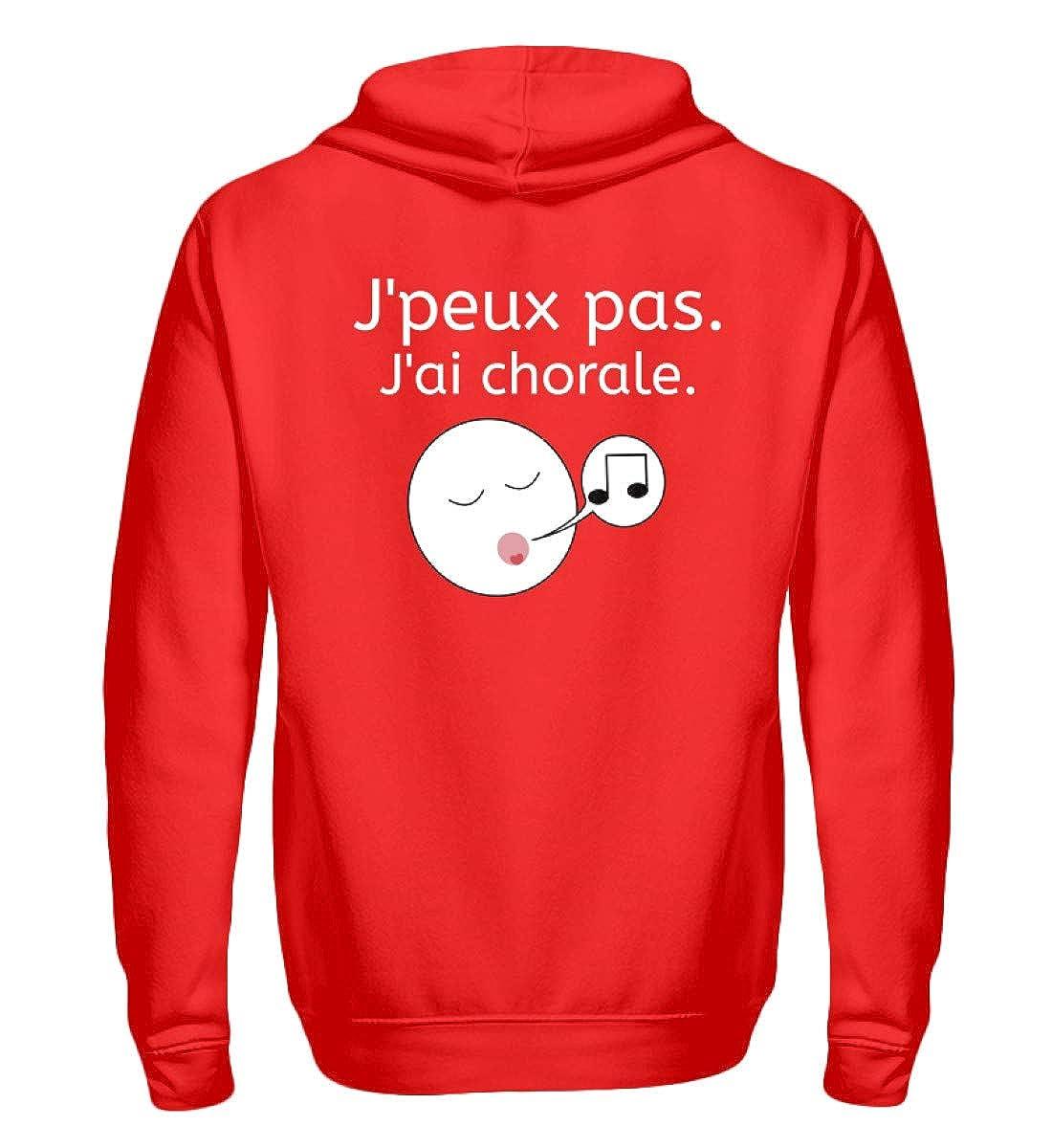 J& 039;peux pas. J& 039;ai chorale  Idéal Pour Les chanteurs de chœur. - Zip-Hoodie