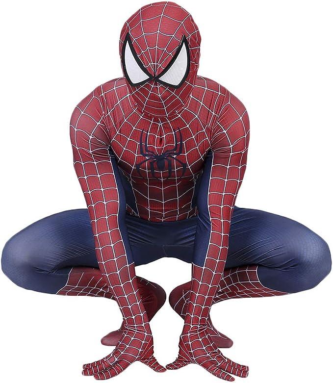 QWEASZER Peter Parker Disfraz de hombre araña clásico Traje de ...