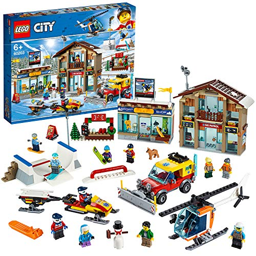 LEGO®-City La station de ski Enfant 6 Ans et Plus, Jeu de Construction 806 Pièces 60203