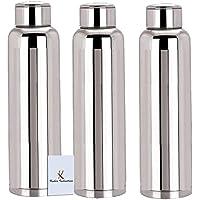 Kuber IndustriesTM Stainless Steel 3 Pcs Fridge Water Bottle/Refrigerator Bottle/Thunder -CTKTC6003