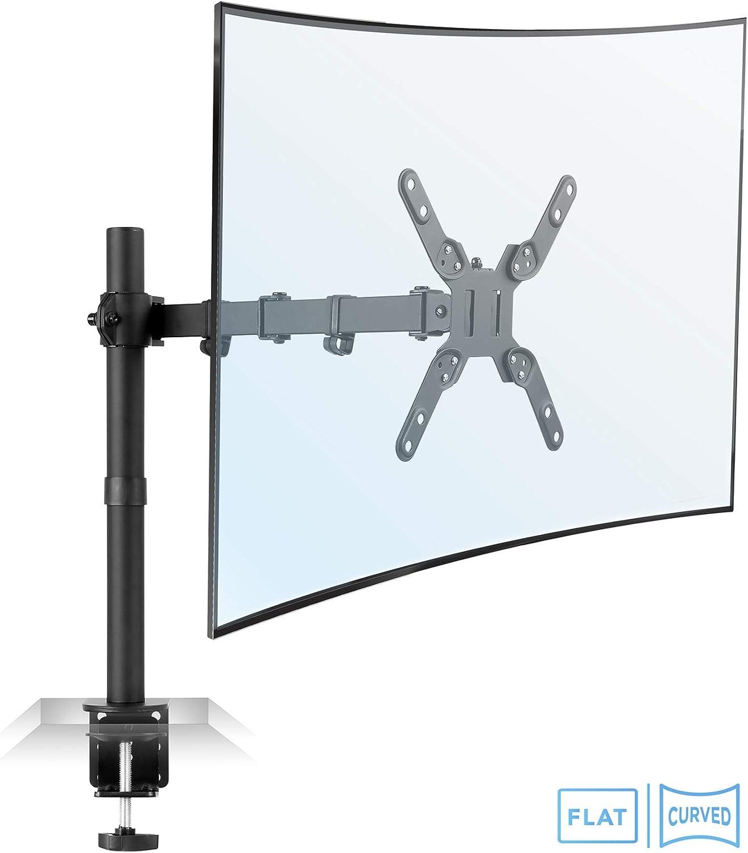 Mount-It! Großer Monitor Tischhalterung mit VESA 10 Verschraubung, passend  für bis zu 10 Zoll und Ultraweite Monitore