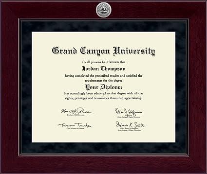 Amazon.com: Grand Canyon University Diploma Frame - Solid Hardwood ...