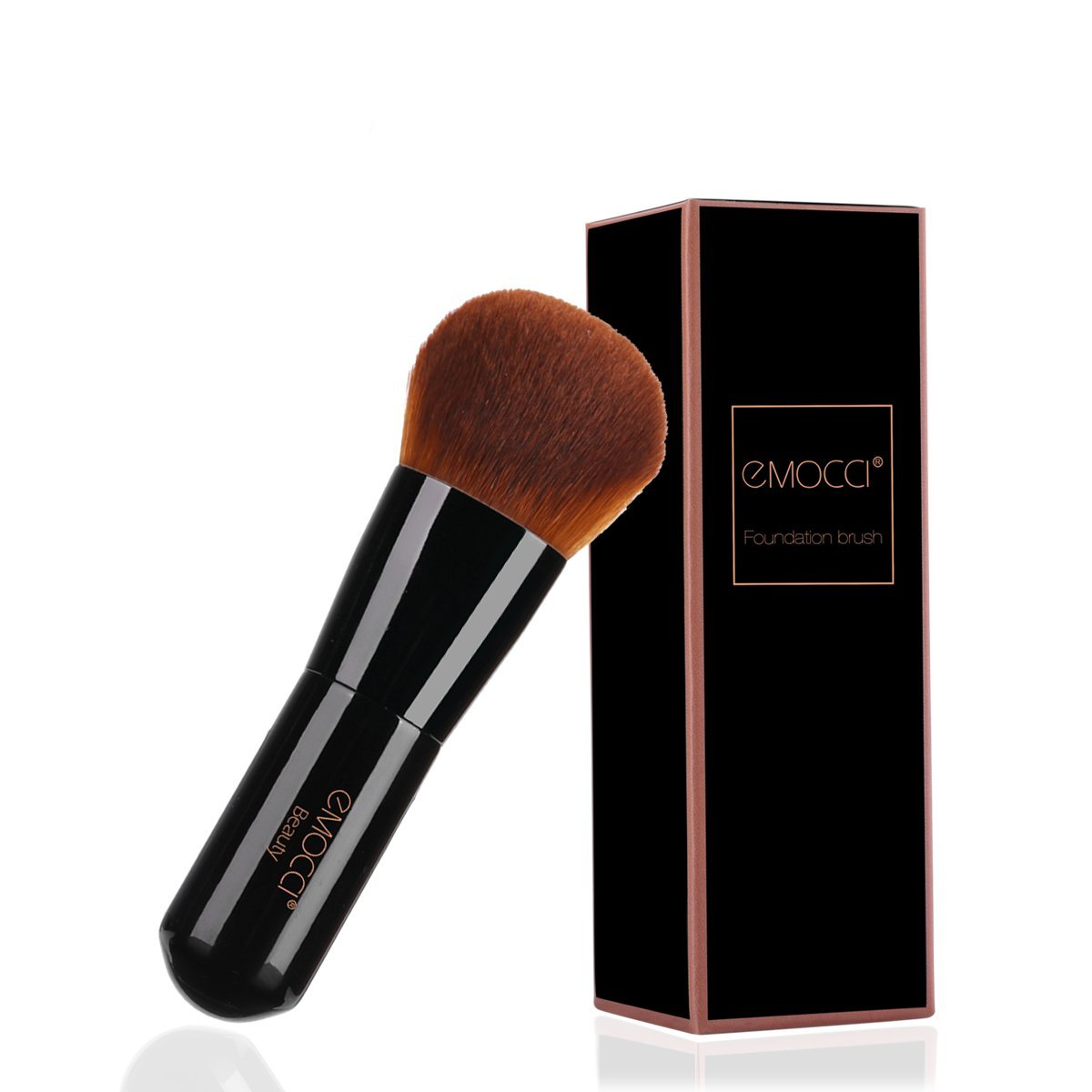 Flat Makeup Kabuki Brush Professional Make Up Face Foundation Stippling Concealer Brushes for Liquid Powder BB Cream Blending Mineral Beauty Tools Gift Set(Black)