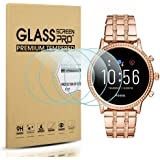 Suoman 4-Pack for Fossil Women Gen 5 Julianna Screen Protector Tempered Glass, HD Tempered Glass Screen Protector for Fossil