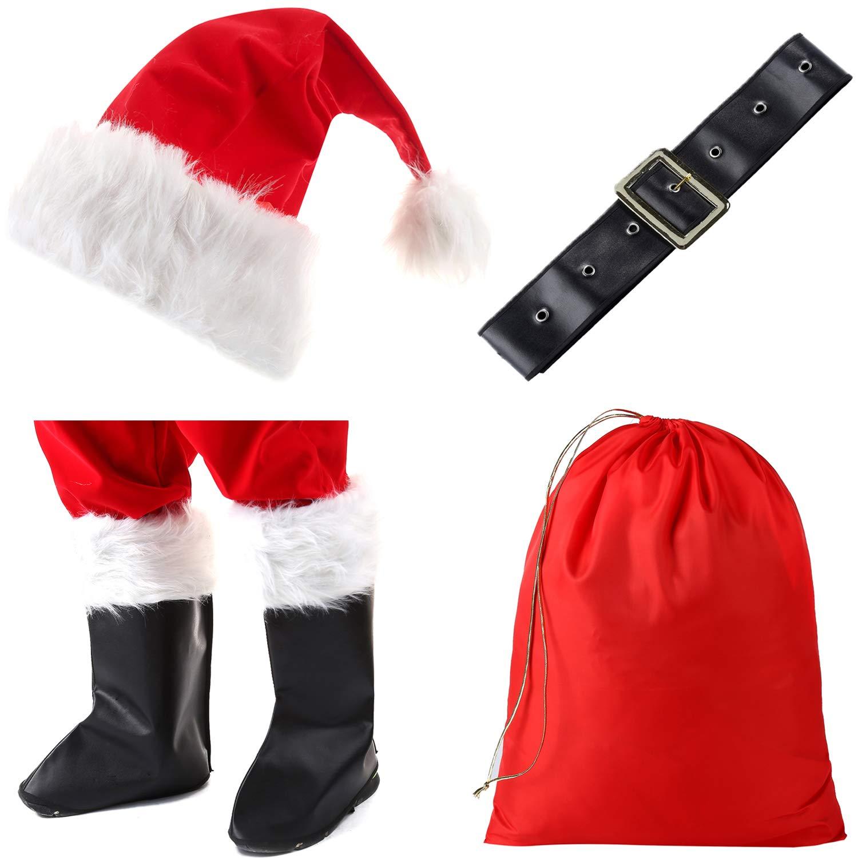 Amazon.com: Dafudag - Disfraz de Papá Noel, 10 piezas: Clothing