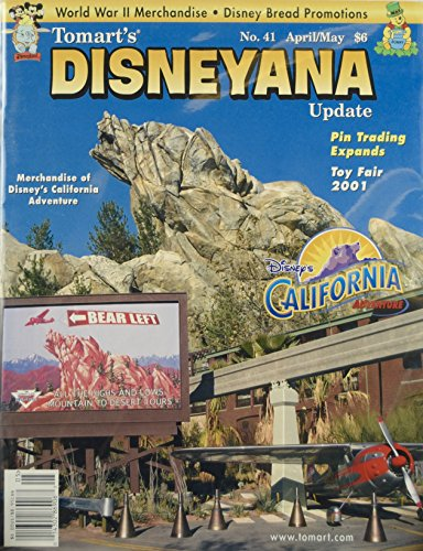 2001 - Tomart's Disneyana Update No. 41 - Disney's California Adventure / Pin Trading / Toy Fair 2001 - OOP - New - Mint - Rare - Collectible