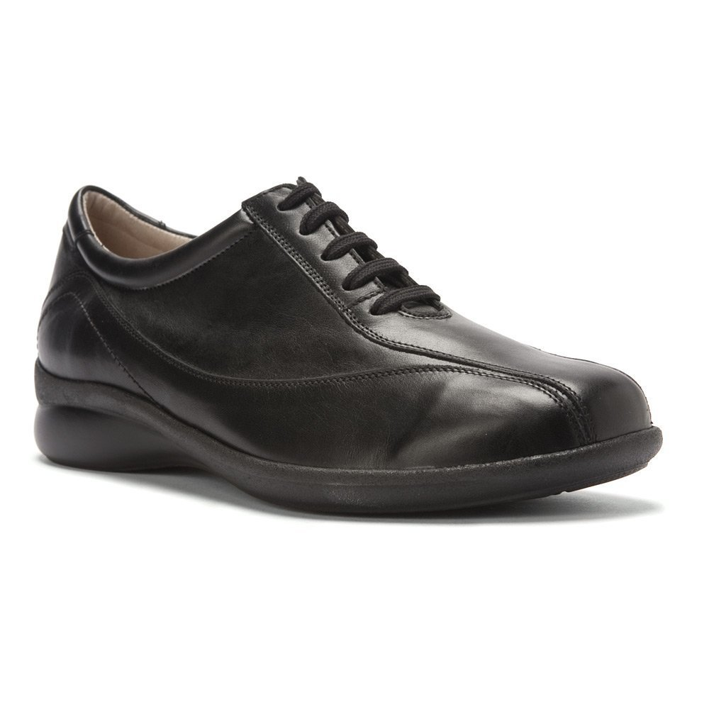 Durea Women's Mandy Lace Up Oxfords,Black,10.5 N