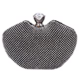 Fawziya® Apple Shape Giant Cut Glass Diamond Evening Purses Rhinestone Crystal Clutch Bag