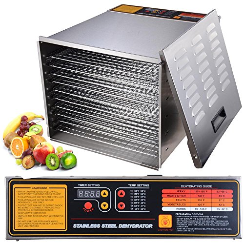 1200W Stainless Digital Dehydrator Shelves