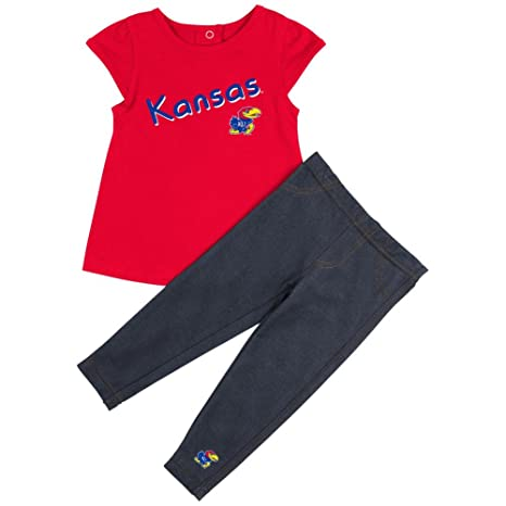 a0d9a8c52 Colosseum Kansas Jayhawks KU Girls' Tee Shirt and Jeggings Set (6-12 M