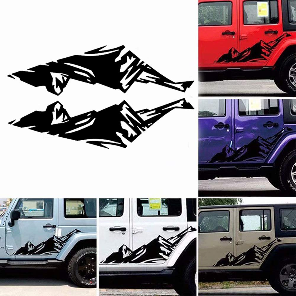 Giftcity car decals 1 set mountain decal car sticker decals car decal vinyl car body decal for car truck f 150 jeep wrangler universal scratch hidden