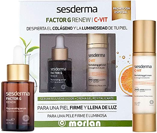 SESDERMA PACK FACTOR G RENEW SERUM + C-VIT CREMA GEL: Amazon.es ...