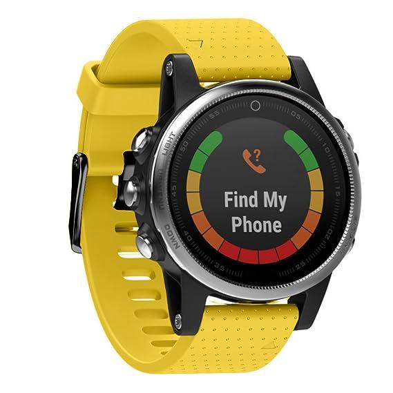 ✿ para Reloj Garmin Fenix 5S GPS, Correa de muñeca de reemplazo rápido Silicagel Quick Install Band Absolute: Amazon.es: Ropa y accesorios