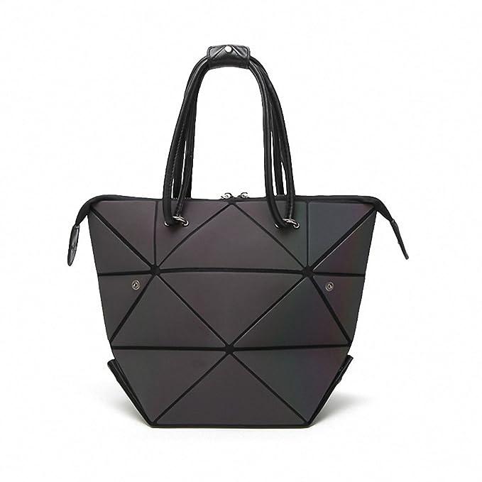 Amazon.com: Moda Luminoso bolsas piel de la PU mujer bolsa ...
