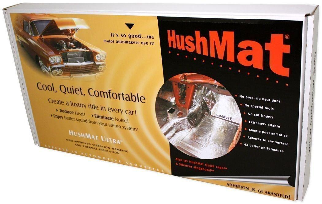 HushMat 10330 Ultra Black Foil Cargo Kit with Damping Pad - 16 Piece