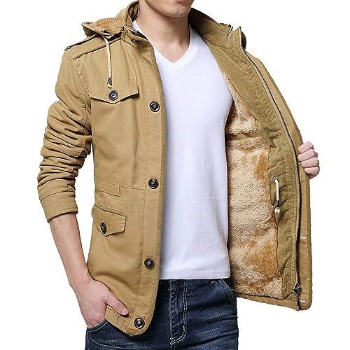 zarupeng Chaqueta de abrigo de invierno para hombre Abrigo abrigos delgado Botones largos de zanja Abrigo con cremallera: Amazon.es: Zapatos y complementos