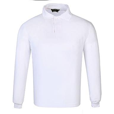 DONNAY Hombre Camiseta Polo Manga Larga De Algodón Blanco XL ...