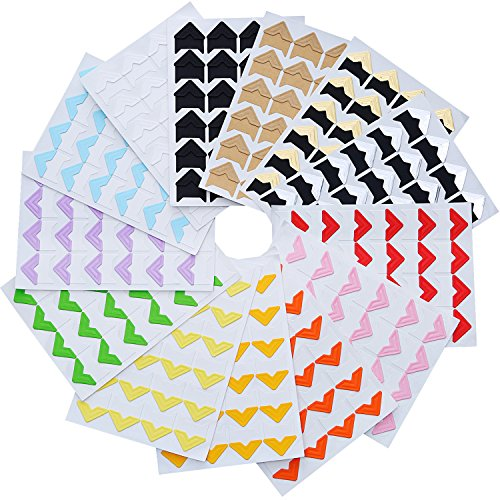 to Corners Self Adhesive for DIY Scrapbook, Picture Album, Personal Journal, Dairy More (Color 1) ()