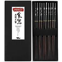 AOOSY Palillos japoneses , madera 5 pares Palillos
