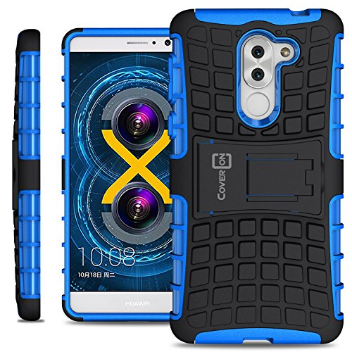 Honor 6X Case, Huawei Mate 9 Lite Case, CoverON [Atomic Series] Hybrid Armor Cover Tough Protective Hard Kickstand Phone Case for Huawei Honor 6X / Mate 9 Lite - Blue / Black
