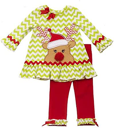 6X New Rare Editions Little Girl Red Snowman Christmas Dress Legging Outfit 2T