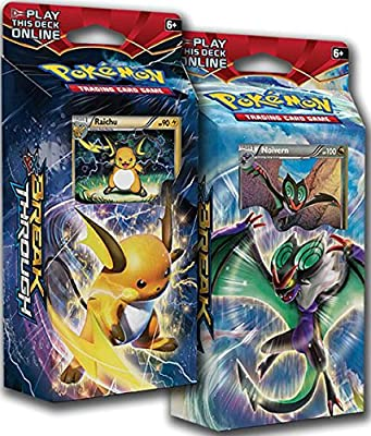 BOTH Pokemon XY8 BREAKthrough Theme Decks RAICHU & NOIVERN !! - TCG English Card Game