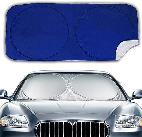 Car UV Protection Universal for Car Hippo Car Sun Protection Windscreen Interior Sun Protection for Windscreen Foldable Parasol for Car Sun Visor SUV 160 x 90 cm Truck