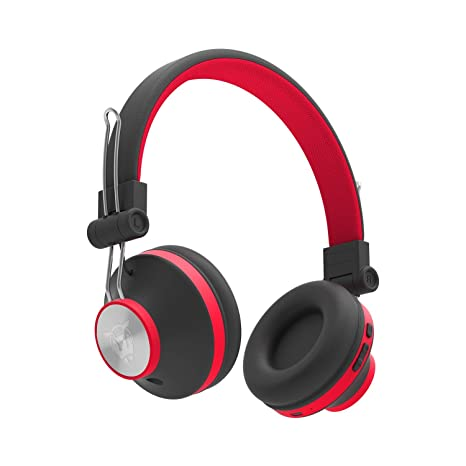 Ant Audio Treble H82 On-Ear Bluetooth Wireless Headphones with Mic (Black and Red) On-Ear Headphones at amazon