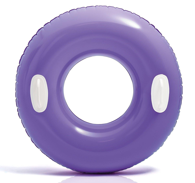 30 Inflatable Classic Purple Swim Ring Tube Pool Float