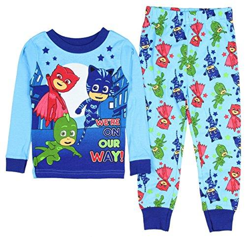 AME PJ Mask Boys Were On Our Way! Long Sleeve Cotton PajamasTight Fit (Pajamas Toys)