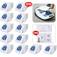 3D Vacuum Cleaner Fabric Dust Filter Bags Parts Fit for Miele GN HYCLEAN C2 C3 S5 S8 S5210 S5211 S8310,12 Genuine Hyclean GN Bags + 4 Super Air Clean Filter