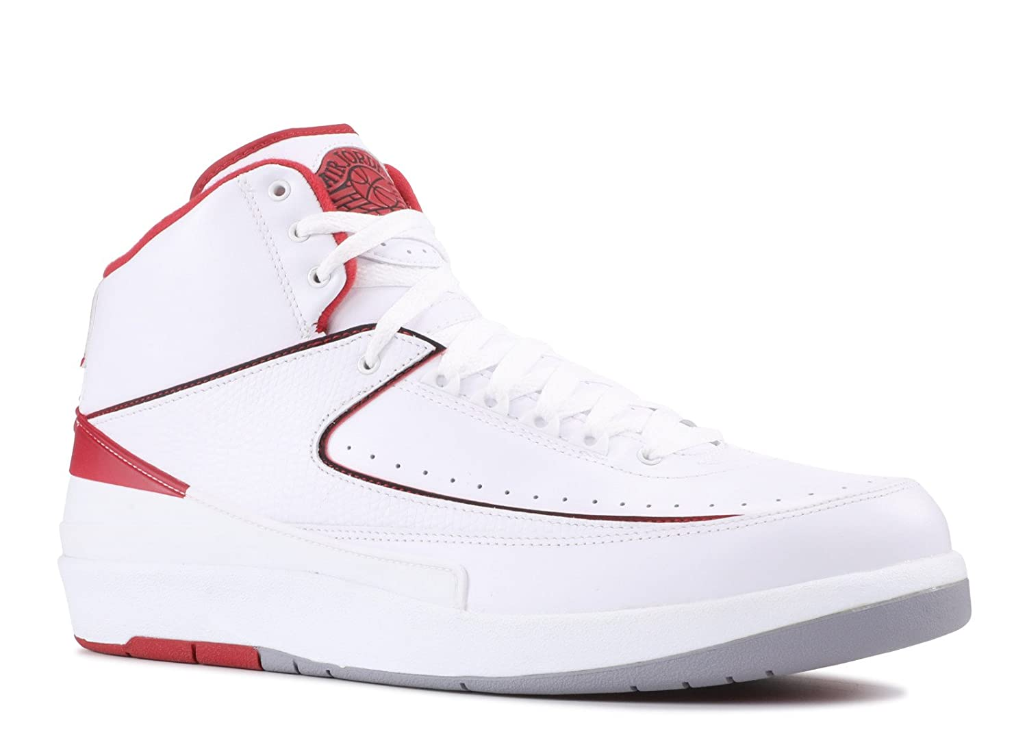 dab104081ba Amazon.com | NIKE Mens Air Jordan 2 Retro OG Colorway White/Black-Varsity  Red-Cement Grey Leather Basketball Shoes Size 11.5 | Basketball