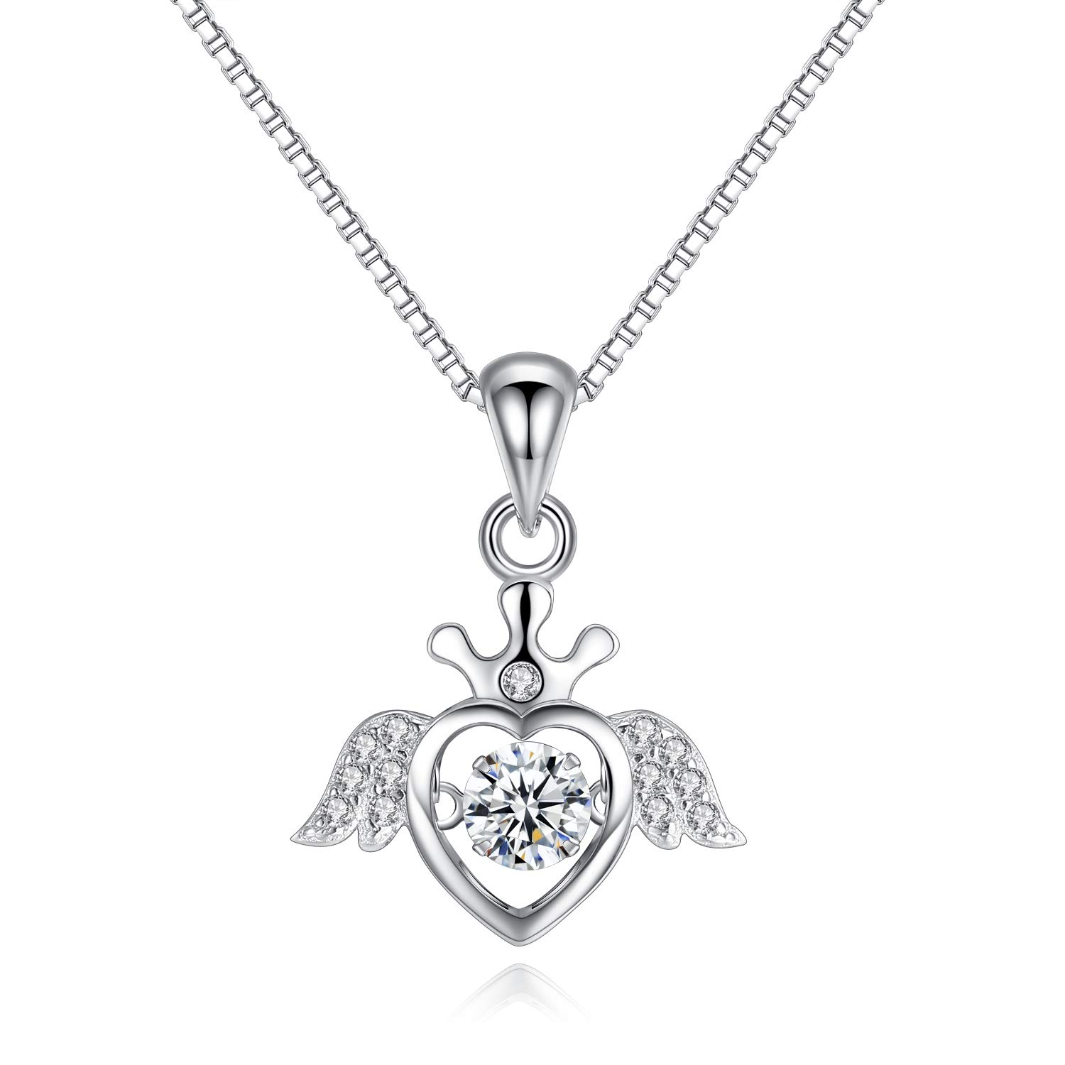 203e93af24b87 Amazon.com: VANA JEWELRY Angel Wing Love Heart Necklaces 925 ...