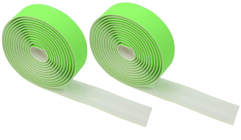Domain Cycling Extra Long Gel Bicycle Handlebar Bar Tape Wrap for Road Bikes and Cycling (Green) by Domain Cycling