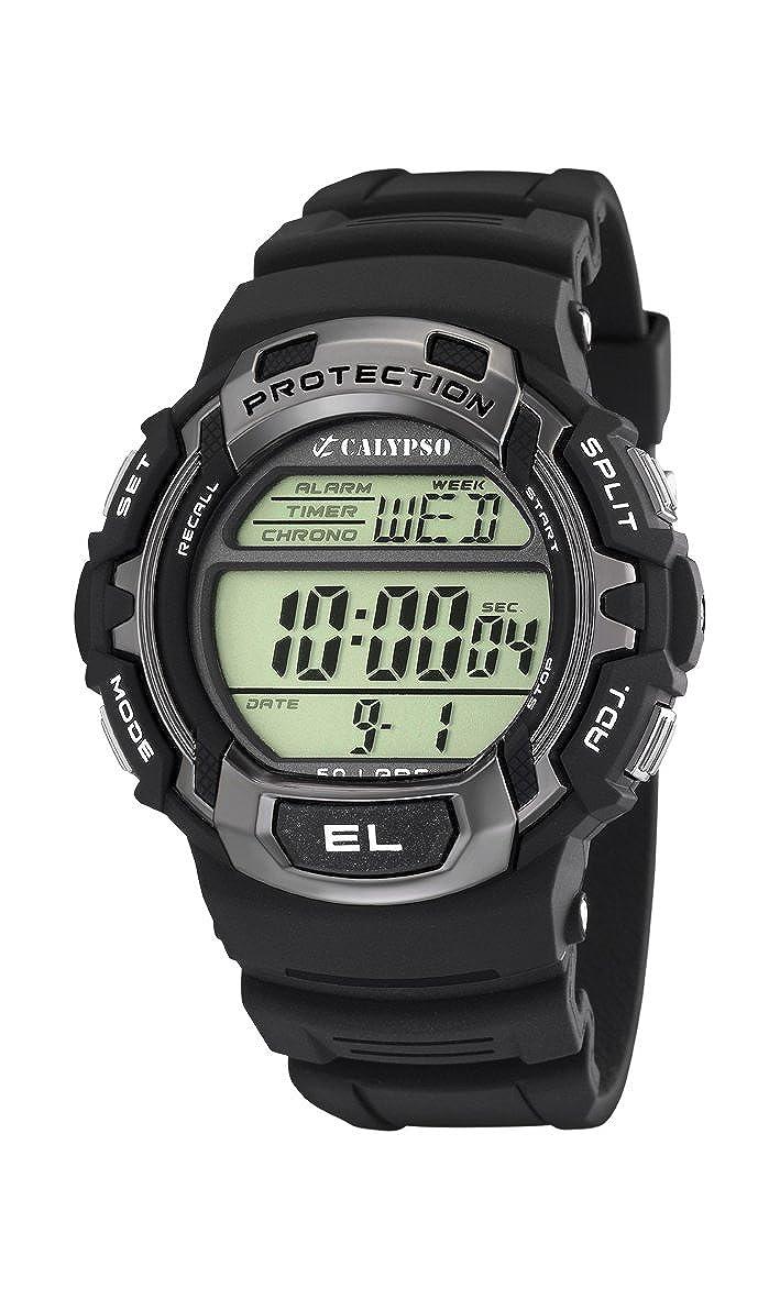 Calypso Reloj Digital para Hombre de Cuarzo con Correa en Plástico 780-241