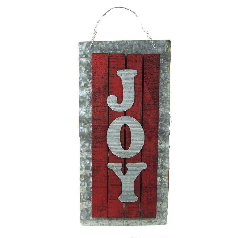 Weichan Decor Holiday Joy Wood Sign On Aluminum Sheet 22-Inch
