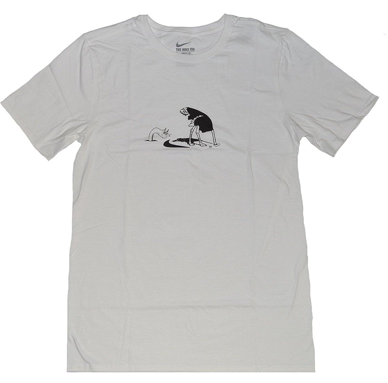 f446f3b66 Amazon.com: Nike SB Mens The Nike Tee Crew Neck Athletic Cut Skateboarding  Short Sleeve Cotton T-Shirts (White Ostrich, L): Sports & Outdoors