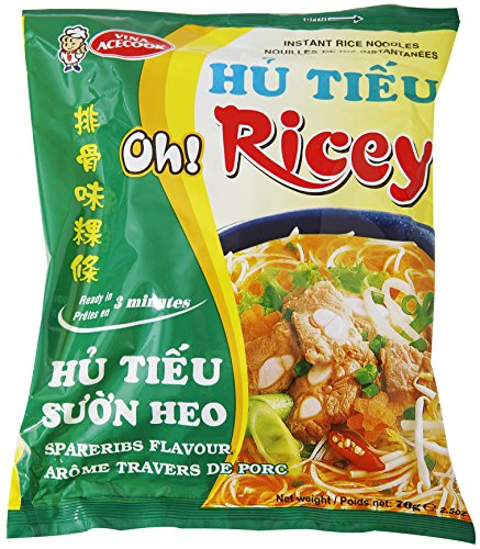 Oh! Ricey Instant Rice Noodles Hu Tieu Suon Heo Soup - Spareribs Flavor, 2.5 Ounce (Case of 24)