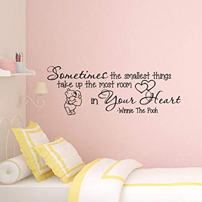 aegeare Winnie The Pooh Wall Decal Winnie The Pooh Quote Nursery Decor Cute Winnie The Pooh Kids Bedroom Wall Poster Wall Art: Home & Kitchen [5Bkhe0903667]