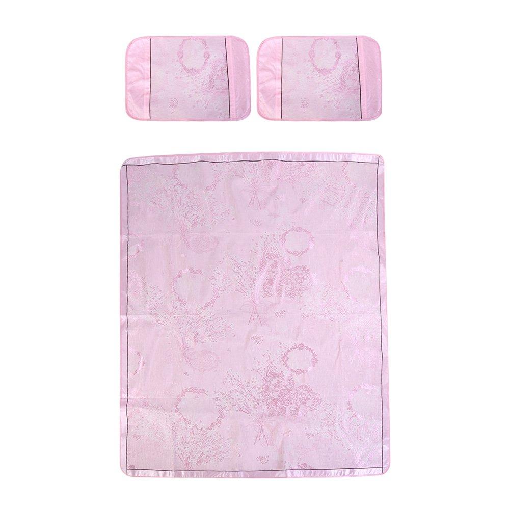 Summer Sleeping Mat Folding Non-Slip Bedding Cooling Summer Sleeping Pad Mattress Topper Pad Pillow 180 * 200cm(Blue) Huhushop