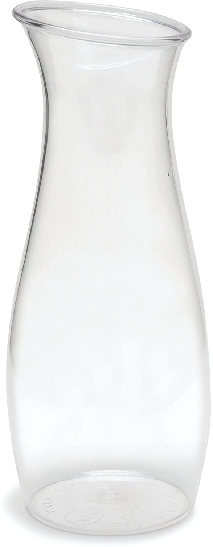 Carlisle 7090207 Cascata Carafe Juice Jar Beverage Decanter Only, Plastic, 1 L, Clear