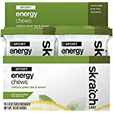 SKRATCH LABS Sport Energy Chews - Natural, Developed for Athletes and Sports Performance, Gluten Free, Dairy Free, Vegan (Matcha Green Tea & Lemon), 10 x 50g