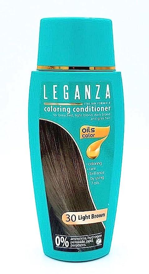 Leganza, 7 aceites naturales, bálsamo para el pelo de color marron claro 30
