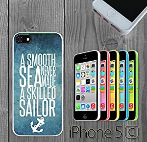 Beach Anchor Smooth Sea Custom made Case/Cover/Skin FOR iPhone 5C Color -White- Rubber Case