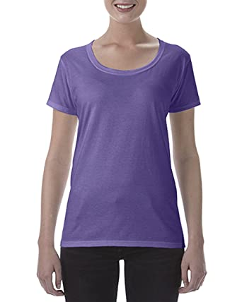 c1df16436 Gildan Ladies Softstyle® Deep Scoop 100% Ringspun Cotton T-Shirt Women  Short Sleeves Crew Neck Tee Plain Casual Top Heather Purple XX-Large:  Amazon.co.uk: ...
