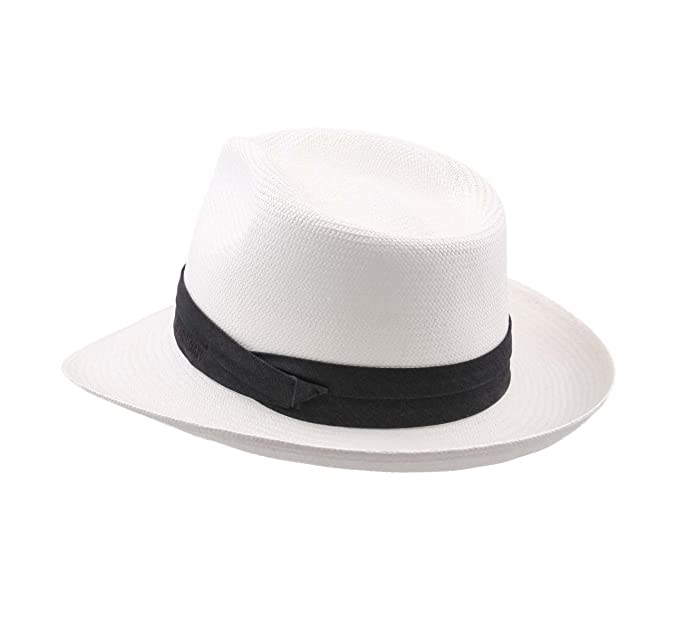 406d8ec655037 Stetson Men s Fedora Panama Bleached Fedora Hat at Amazon Men s Clothing  store