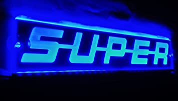 Amazon Fr 24 V Bleu Led Plate Super Sign Light Pour Scania Camions