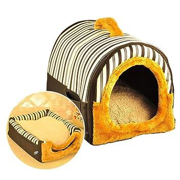 AYWJ Casa para Mascotas 2-en-1 Y Sofá Portátil, Camas Antideslizantes para